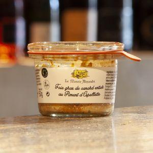 Foie gras de Canard au Piment d'Espelette Le Manoir Alexandre 50g