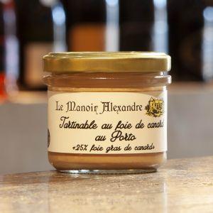 Tartinable Foie de Canard Porto Le Manoir Alexandre 90g